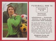 West Germany Rudi Kargus Hamburg
